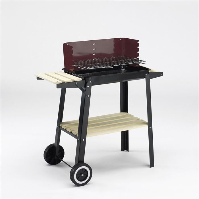 Gallery Of Grill Chef Barbecue Charbon Chariot X Cm Noir Et Rouge Achat  With Barbecue Charbon Leclerc