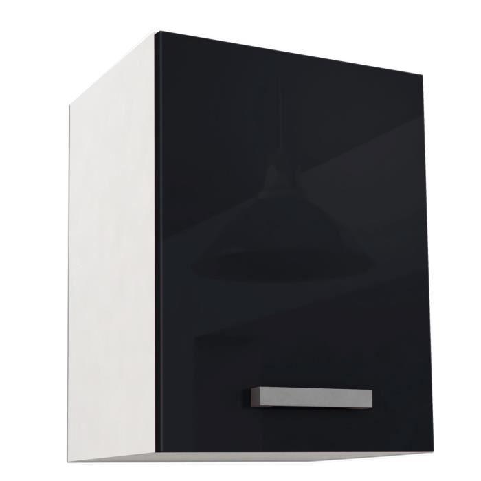start caisson haut de cuisine 40 cm noir haute brillance. Black Bedroom Furniture Sets. Home Design Ideas