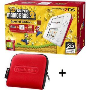 CONSOLE 2DS NOUVEAUTÉ Pack 2DS Rouge & Blanche + New Super Mario Bros 2