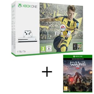 CONSOLE XBOX ONE NOUV. Xbox One S 1To + FIFA 17 + Halo Wars 2
