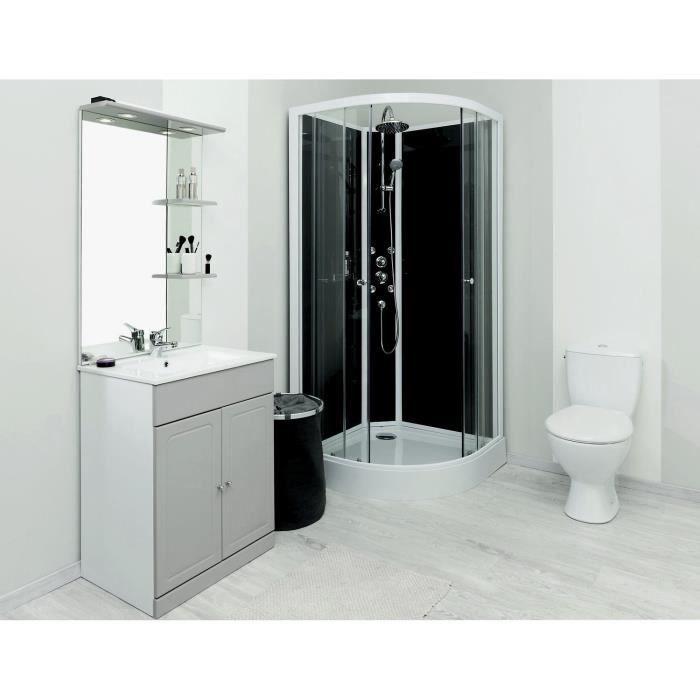 cabine de douche hydromassante gena 1 4c 90cm achat vente cabine de douche cabine hydro 1 4. Black Bedroom Furniture Sets. Home Design Ideas