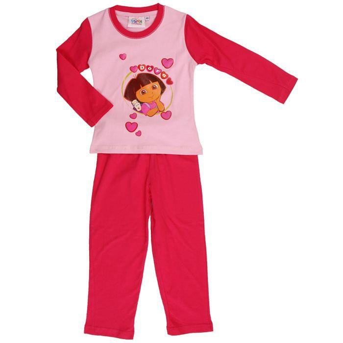 dora pyjama 2 pi ces fille rose et rouge achat vente. Black Bedroom Furniture Sets. Home Design Ideas