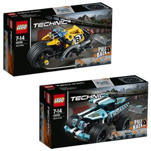 ASSEMBLAGE CONSTRUCTION Pack LEGO Technic Power Racer 42058 + 42059