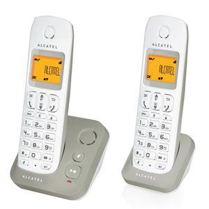 alcatel e130 voice duo gris achat t l phone fixe pas cher avis et meilleur prix soldes. Black Bedroom Furniture Sets. Home Design Ideas