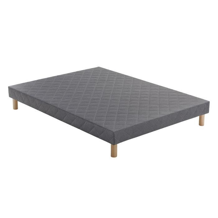 aloe sommier 140x190 cm tapissier ferme 12 lattes massives 2 personnes achat vente. Black Bedroom Furniture Sets. Home Design Ideas