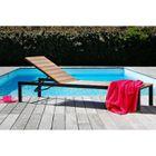 CHAISE LONGUE Bain de soleil aluminium et nowood couleur bois 20