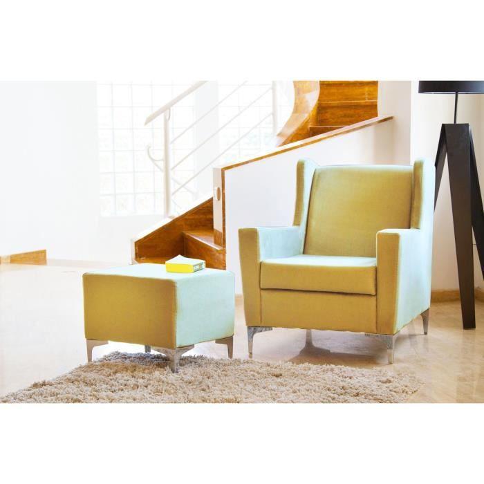 clark fauteuil beige avec repose pied achat vente fauteuil cdiscount. Black Bedroom Furniture Sets. Home Design Ideas