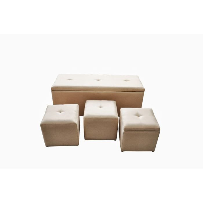 banc coffre 1 pouf coffre 2poufs. Black Bedroom Furniture Sets. Home Design Ideas