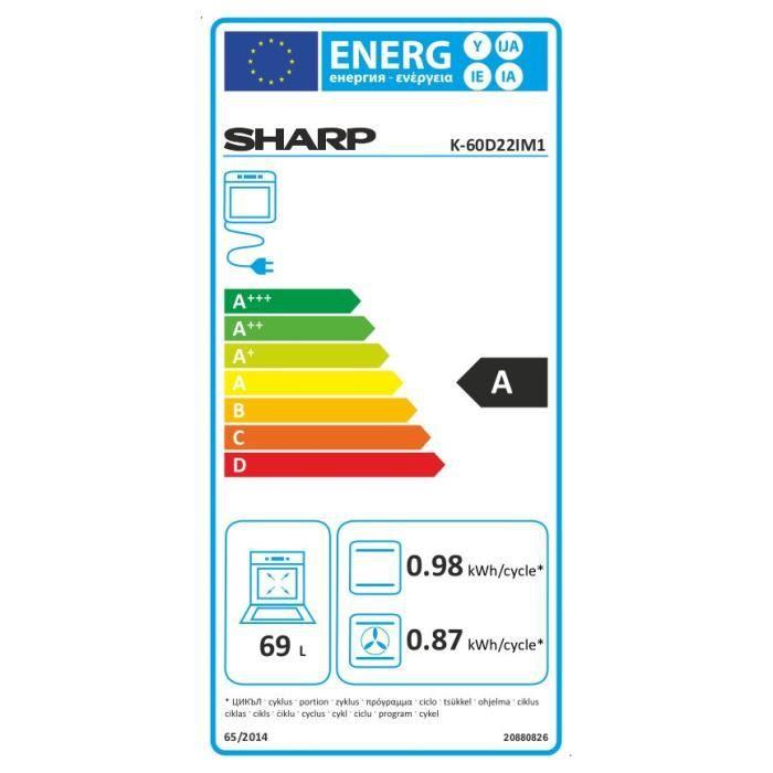 sharp k 60d22im1 four lectrique encastrable chaleur electrom nager. Black Bedroom Furniture Sets. Home Design Ideas