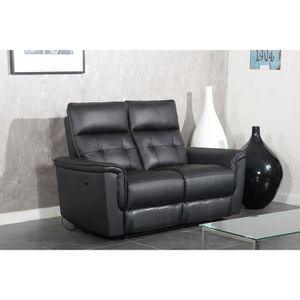 CANAPÉ - SOFA - DIVAN MILLESIME Canapé droit de relaxation en cuir 2 pla