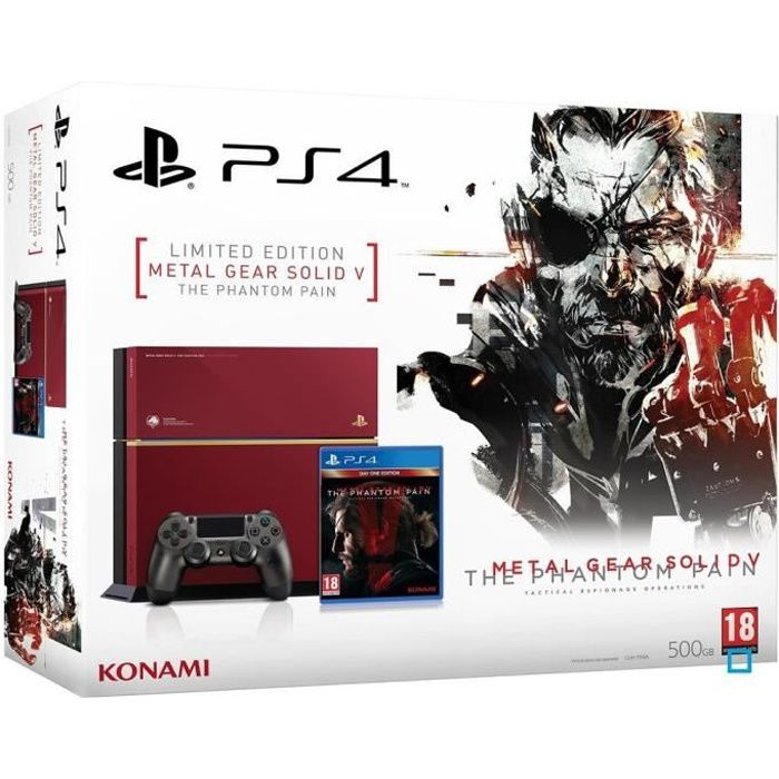 jeux pc video console consoles ps edition limitee metal gear solid v f  psmgslimi