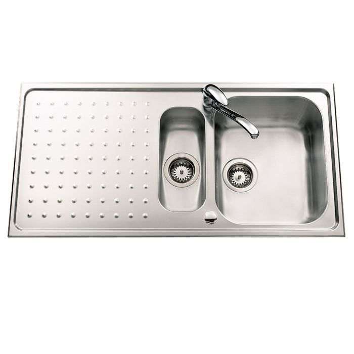 Evier gala 2 bacs 1 gouttoir inox mini structur achat for Robinetterie evier cuisine