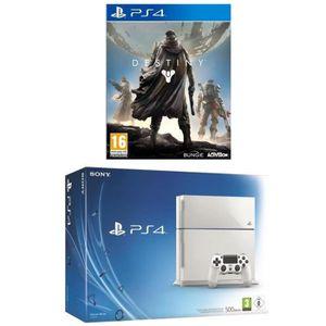 Pack Console PS4 500 Go Blanche + Destiny Jeu PS4