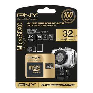 CARTE MÉMOIRE PNY Elite performance Micro SD HC/XC 32Go + Adapta
