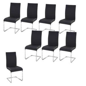 Lot de 8 chaises salle a manger achat vente lot de 8 for Chaises noires salle a manger