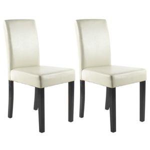 CHAISE CLARA Lot de 2 chaises de salle à manger en simili