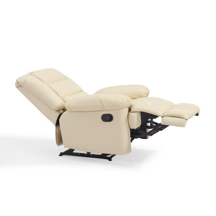 fauteuil blanc achat vente fauteuil blanc pas cher cdiscount. Black Bedroom Furniture Sets. Home Design Ideas
