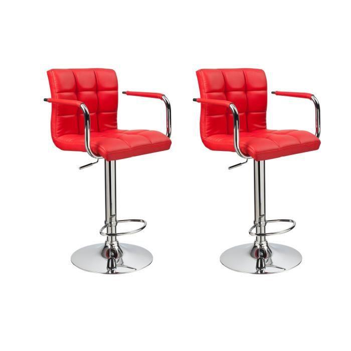 finlandek lot de 2 tabourets de bar kahvi rouge achat vente tabouret roug. Black Bedroom Furniture Sets. Home Design Ideas