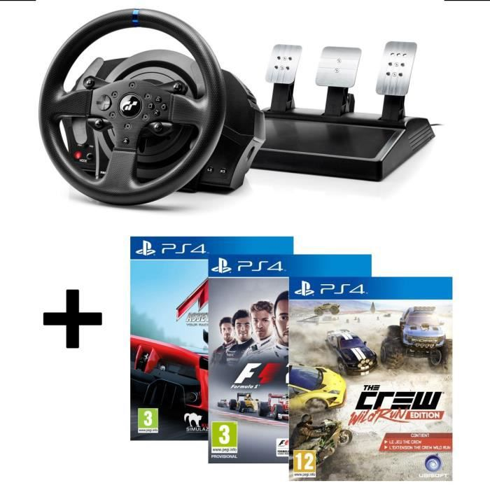 pack thrustmaster volant t300rs gran turismo edition ps4 ps3 3 jeux ps4 assetto corsa. Black Bedroom Furniture Sets. Home Design Ideas