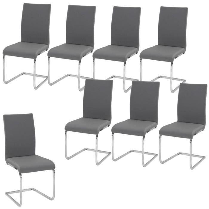 Lea lot de 8 chaises de salle manger grises achat for 8 chaises salle a manger
