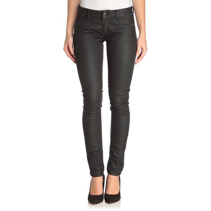 kaporal 5 jean slim seven femme noir achat vente jeans. Black Bedroom Furniture Sets. Home Design Ideas