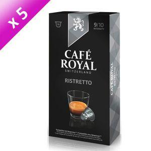 CAFÉ - CHICORÉE Lot de 5 Café Royal Ristretto Capsules Compatibles