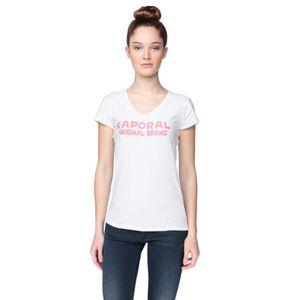 T-SHIRT KAPORAL 5 T-Shirt Duale Blanc et Rose Femme