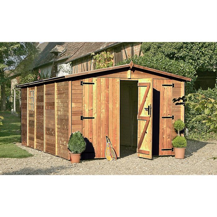 chalet et jardin garage en bois trait 320x512cm 19mm. Black Bedroom Furniture Sets. Home Design Ideas