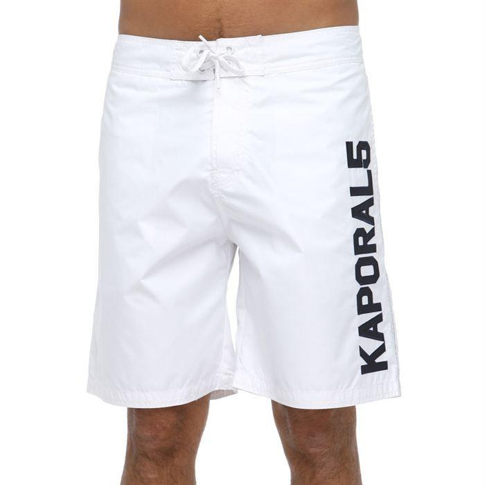kaporal short de bain homme blanc blanc achat vente maillot de bain cdiscount. Black Bedroom Furniture Sets. Home Design Ideas