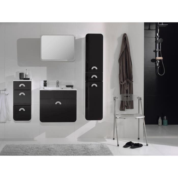 maupiti salle de bain compl te noire achat vente salle. Black Bedroom Furniture Sets. Home Design Ideas