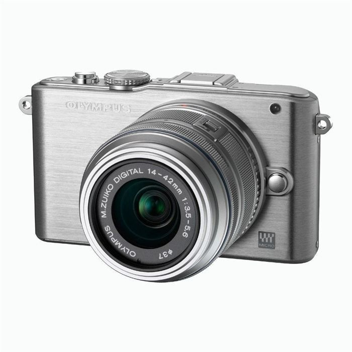 APPAREIL PHOTO COMPACT OLYMPUS EPL3 SILVER + objectif 14-42 Silver