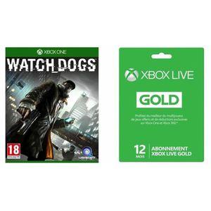 JEUX XBOX ONE Watch Dogs Jeu Xbox One + Abonnement XBOX Live Gol