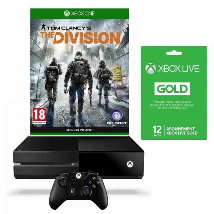 xbox one 1to the division abonnement live gold 12 mois. Black Bedroom Furniture Sets. Home Design Ideas