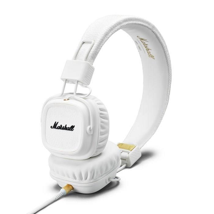marshall major ii casque audio avec micro blanc casque couteur audio avis et prix pas cher. Black Bedroom Furniture Sets. Home Design Ideas