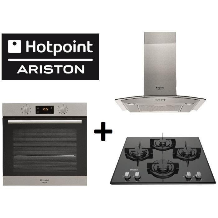 pack cuisson hotpoint fa2 540 p ix h four chaleur tournante electrom nager. Black Bedroom Furniture Sets. Home Design Ideas