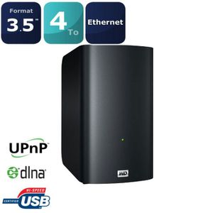 SERVEUR STOCKAGE - NAS  WD disque dur My Book Live Duo 4To