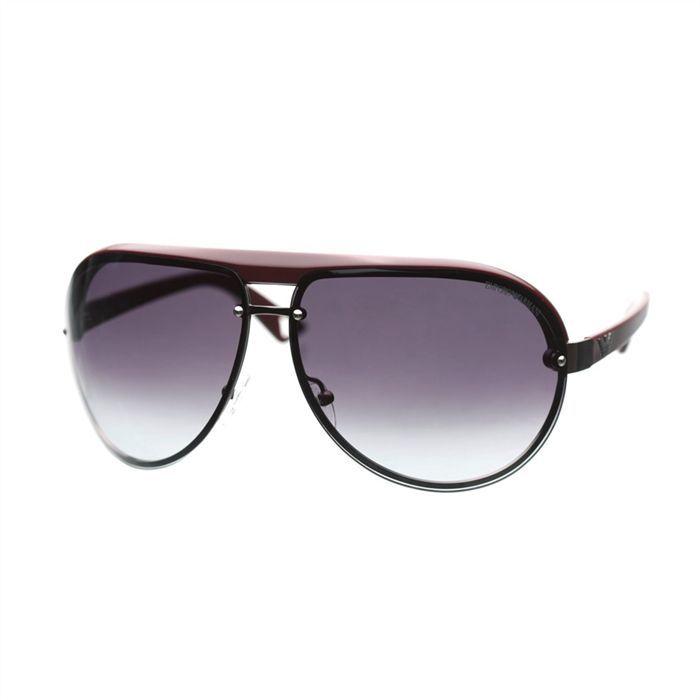 emporio armani lunettes de soleil mixte noir et rouge fonc achat vente lunettes de soleil. Black Bedroom Furniture Sets. Home Design Ideas