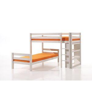 lits superposes 90 et 140cm achat vente lits superposes 90 et 140cm pas cher cdiscount. Black Bedroom Furniture Sets. Home Design Ideas