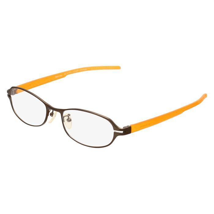 police monture de lunettes de vue femme marron orange transparent achat vente lunettes de. Black Bedroom Furniture Sets. Home Design Ideas