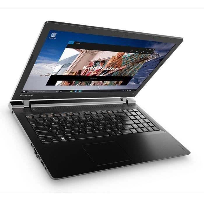 destockage lenovo pc portable ideapad 100 15iby 15 6 hd 4go de ram windows 10 intel. Black Bedroom Furniture Sets. Home Design Ideas