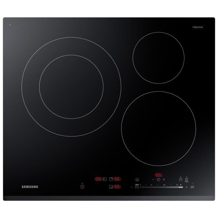 Samsung nz63k5727bk ef table de cuisson induction electrom nager - Plaque induction samsung ...