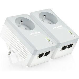 COURANT PORTEUR - CPL TP-LINK Kit de 2 adaptateurs CPL AV500 2 ports Eth