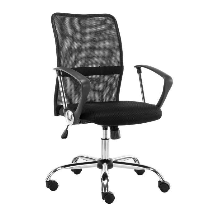 Finlandek fauteuil de bureau sur roulettes pakki en mesh noir achat vente - Cdiscount fauteuil de bureau ...