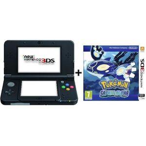 CONSOLE NEW 3DSXL NOUV. Pack New 3DS XL Noire + Pokémon Alpha Saphir
