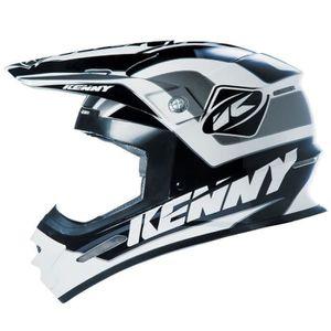 CASQUE MOTO SCOOTER KENNY Casque Cross Track Noir Blanc