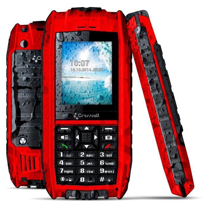 crosscall shark v2 rouge anti choc achat t l phone portable pas cher avis et meilleur prix. Black Bedroom Furniture Sets. Home Design Ideas