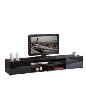 MEUBLE TV LIME Meuble TV contemporain noir - L 185 cm
