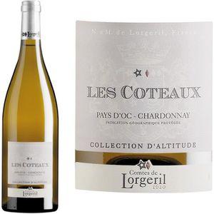 VIN BLANC Les Coteaux Chardonnay IGP d'Oc vin blanc