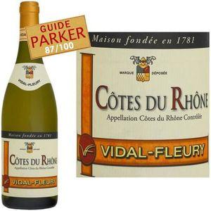 VIN BLANC Vidal-Fleury Côtes du Rhône 2014 vin blanc x1