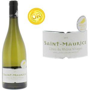 VIN BLANC Cave Saint Maurice Côtes du Rhône Villages Saint M